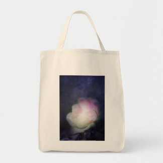 delicate pink old fashioned rose tote bags