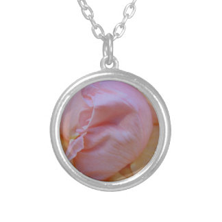Delicate Pink Silver Plated Necklace