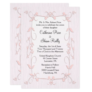 Delicate Pink Wedding Invitations