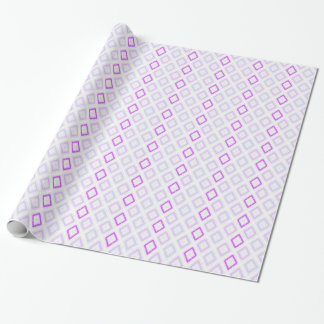 Delicate plaid in pastel mauve and blues wrapping paper