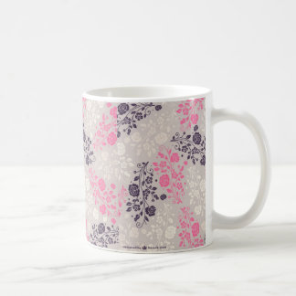 DELICATE PURPLE AND PINK FLORAL PATTERN FOR MUG