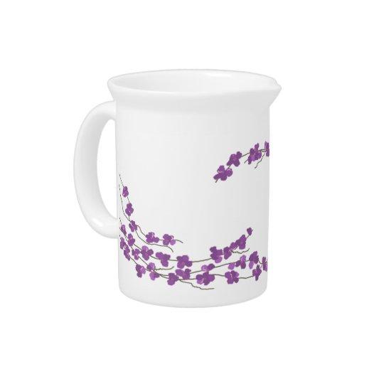 Delicate Purple Blossoms Beverage Pitchers