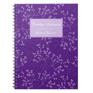 Delicate Purple Branches Customizable Notebook