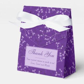 Delicate Purple Branches Favor Box