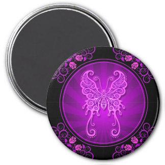 Delicate Purple Butterfly Poster Fridge Magnet