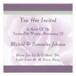 Delicate Rose Fresh Floral Anniversary Invitations