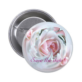 delicate rose in marble 2 6 cm round badge