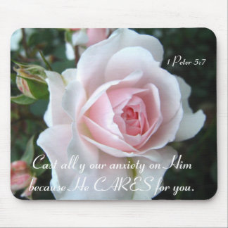 Delicate rose mouse pad