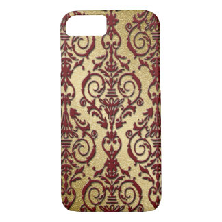 Delicate Ruby Red Damask iPhone 7 Case