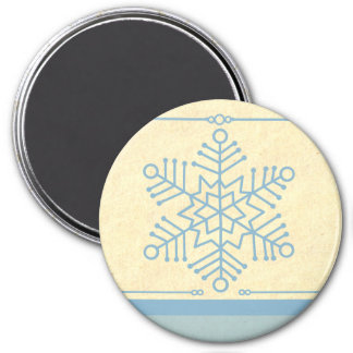 Delicate Snowflake Christmas Magnet
