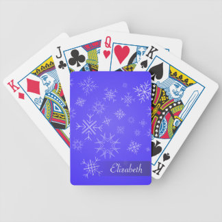 Delicate SnowFlake Sky Bicycle Playing Cards