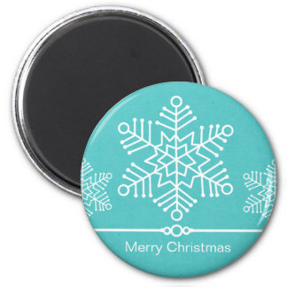 Delicate Snowflakes Christmas Magnet