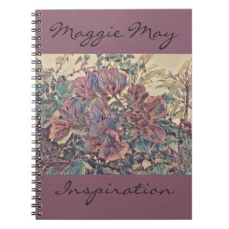 Delicate Stylised Bougainvillea Notebooks