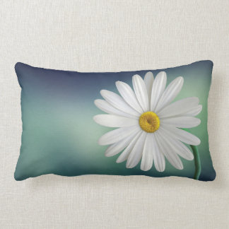 Delicate White Daisy Pillow