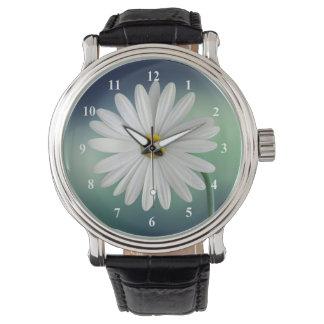 Delicate White Daisy Watch