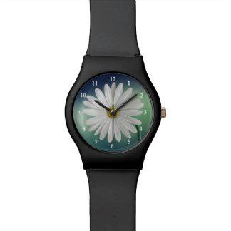 Delicate White Daisy Wrist Watches