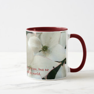 Delicate White Floral Mug
