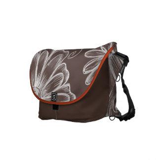 Delicate White Flower Design Messenger Bag