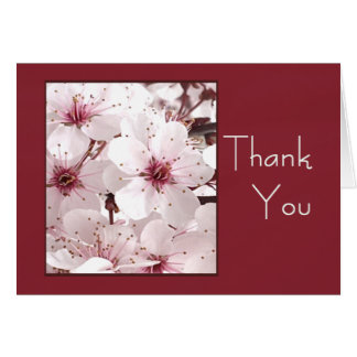 Delicate White Flower THANK YOU Card for Anyone