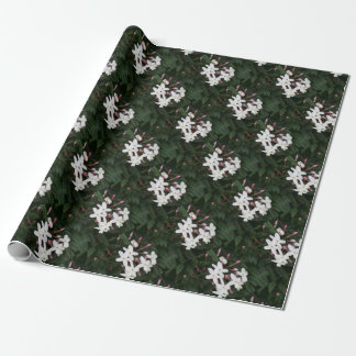 Delicate White Jasmine Blossom Wrapping Paper