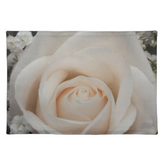 Delicate White Rose Placemat
