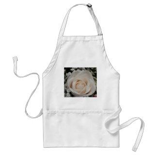 Delicate White Rose Standard Apron