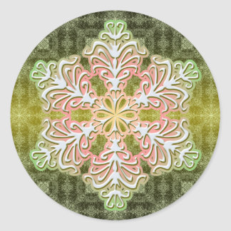 Delicate Winter Ice Crystal Snowflake Sticker