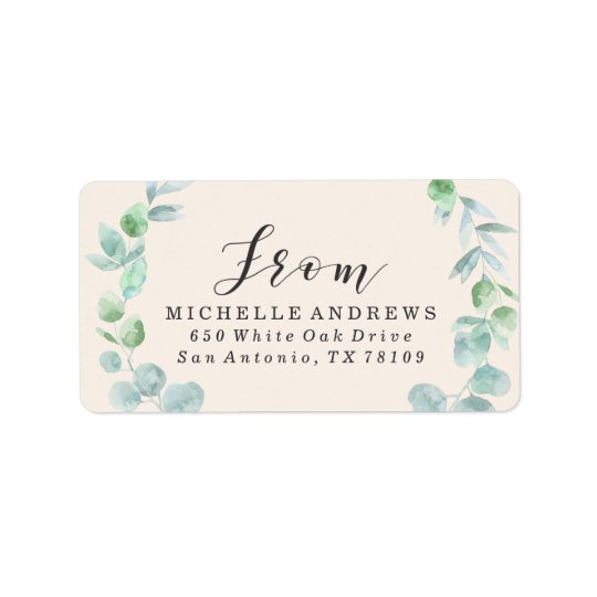 Delicate Wreath | Return Address Labels