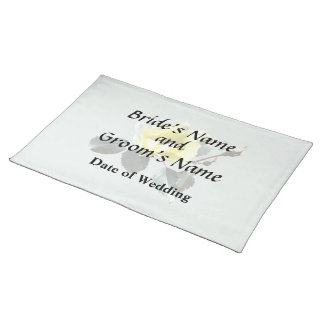 Delicate Yellow Rose Placemat