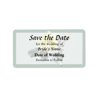 Delicate Yellow Rose Save the Date Address Label