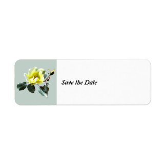 Delicate Yellow Rose Save the Date Return Address Label