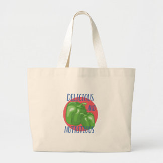 Delicious And Nutritious Large Tote Bag