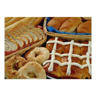 Delicious Baked goods bagels rolls hot crossed Custom Invitations