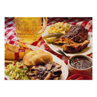 Delicious Barbecued beef on a kaiser bun Personalized Announcements