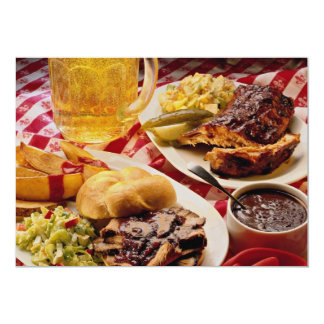 Delicious Barbecued beef on a kaiser bun 13 Cm X 18 Cm Invitation Card