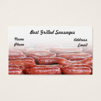 Delicious Barbecued Sausages Business Card