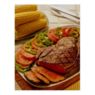 Delicious Beef roast with corn Postcard