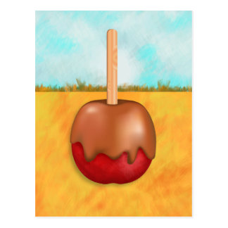 Delicious Candy Apple Landscape Postcard