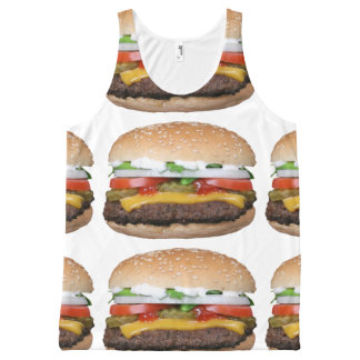 delicious cheeseburger with pickles photograph All-Over print singlet