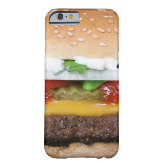 delicious cheeseburger with pickles photograph barely there iPhone 6 case