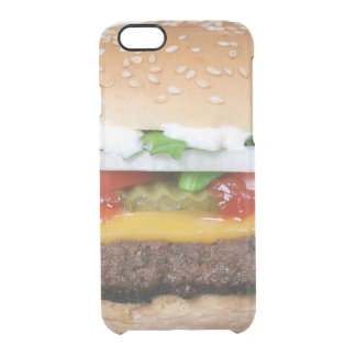 delicious cheeseburger with pickles photograph clear iPhone 6/6S case