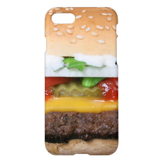 delicious cheeseburger with pickles photograph iPhone 8/7 case