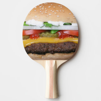 delicious cheeseburger with pickles photograph ping pong paddle