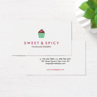 Delicious Chili Cupcake | Bakery Business Card
