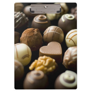 Delicious chocolate pralines clipboard