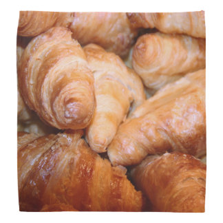 Delicious classic french croissants photograph bandana