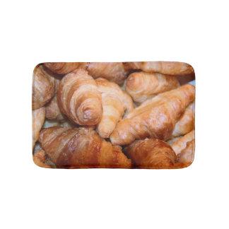 Delicious classic french croissants photograph bath mat
