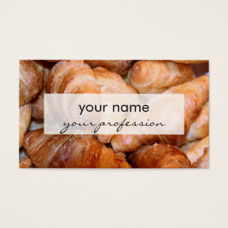Delicious classic french croissants photograph business card