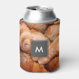 Delicious classic french croissants photograph can cooler
