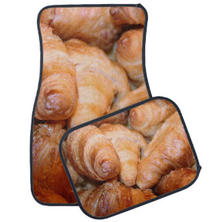 Delicious classic french croissants photograph car mat